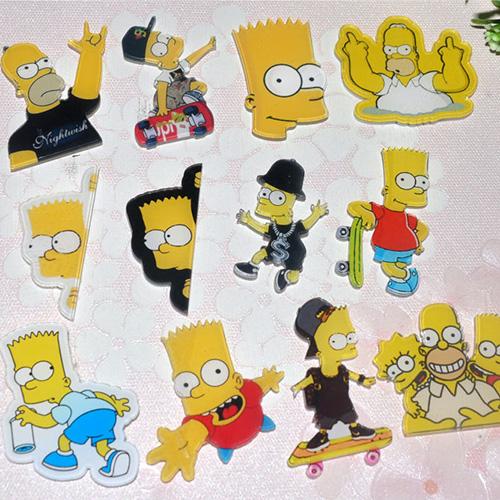 Акриловые значки Симпсоны