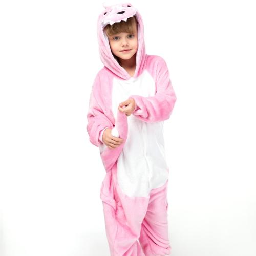 Детское кигуруми розовый Динозаврик