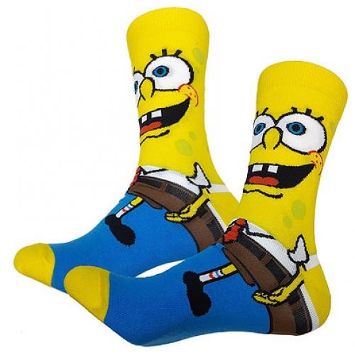 Высокие носки Спанч Боб