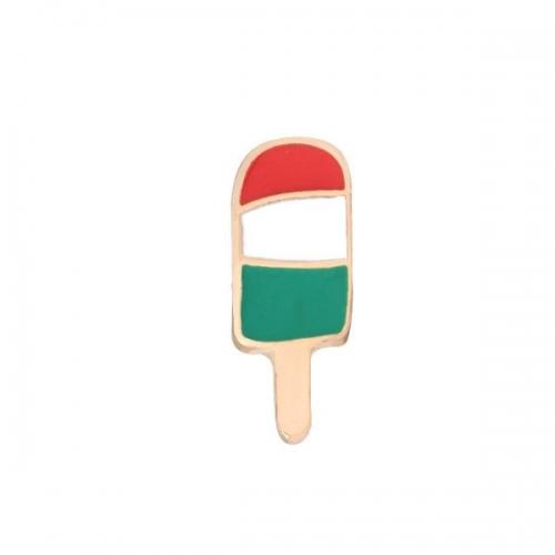 Металлическая брошка Мороженое