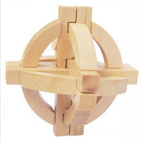 Деревянная мини-головоломка Kong Mingqiu