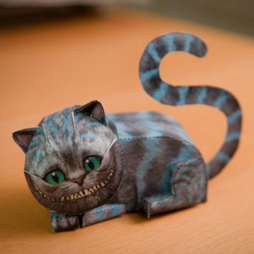 Бумажный 3D конструктор Чеширский кот