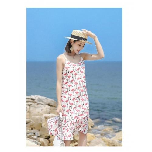 Летнее платье Фламинго