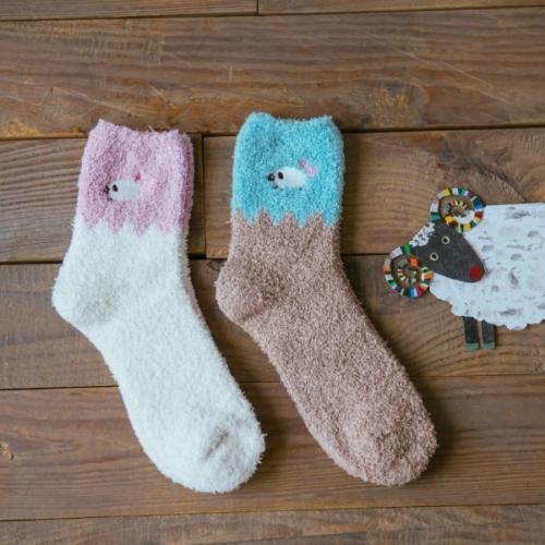 Женские махровые носки Овечки