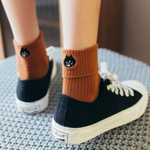 Высокие женские носки Котики